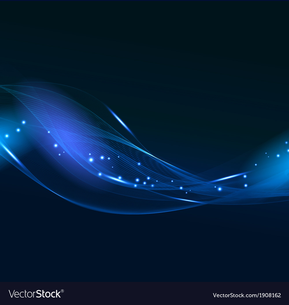 Abstract blue line design on dark background vector | Price: 1 Credit (USD $1)