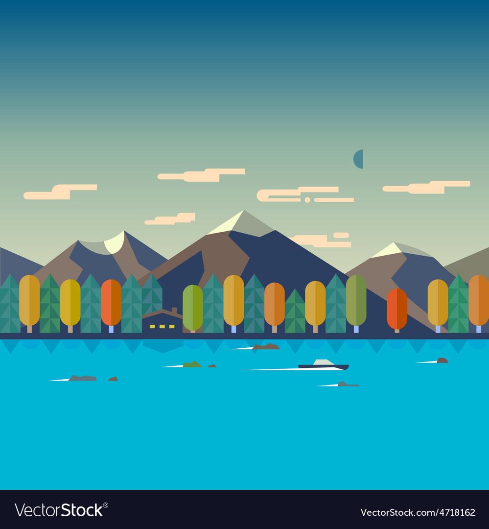 Autumn landscape vector | Price: 3 Credit (USD $3)