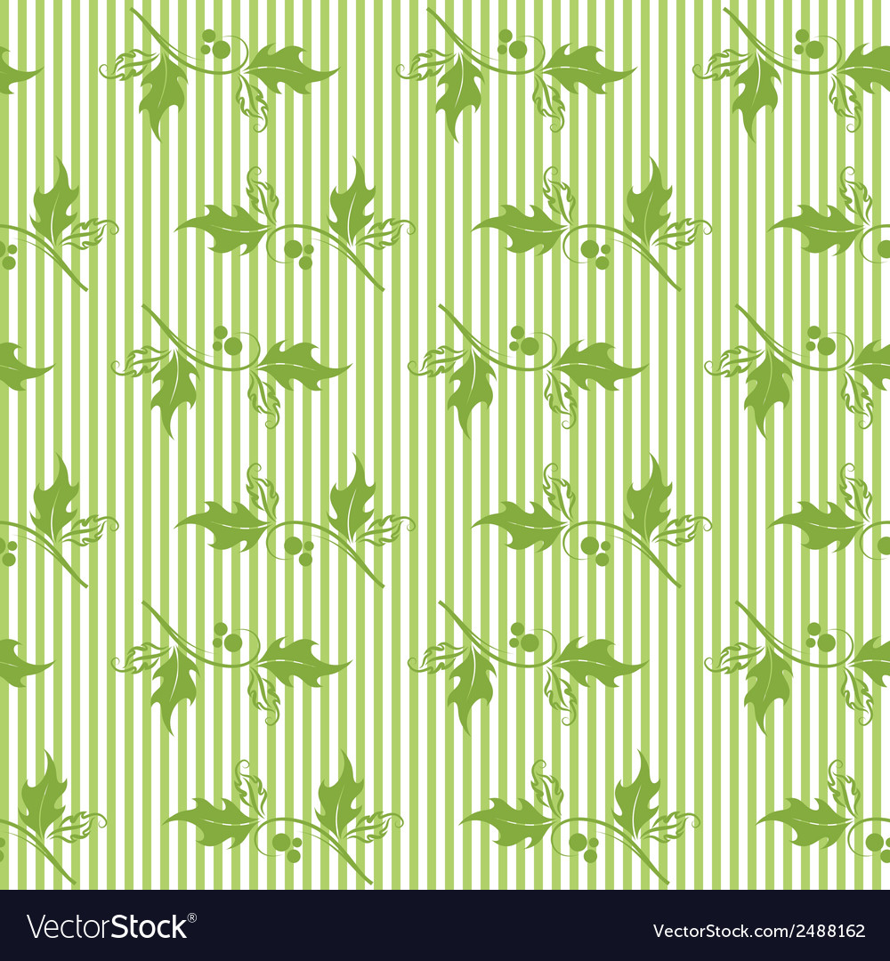 Christmas decorative pattern with holly branches vector   Price: 1 Credit (USD $1)