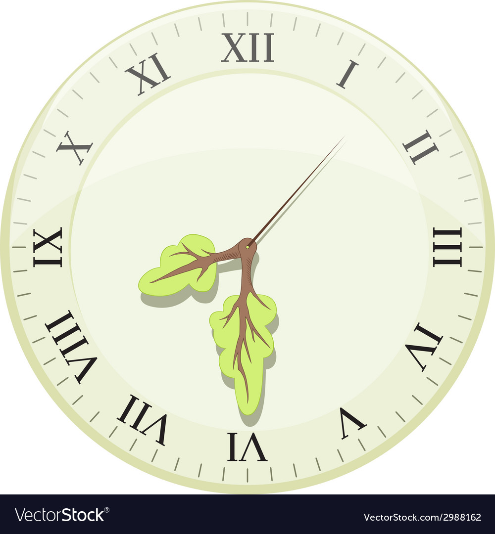 Clock showing earth hour arrows in the form of a vector | Price: 1 Credit (USD $1)