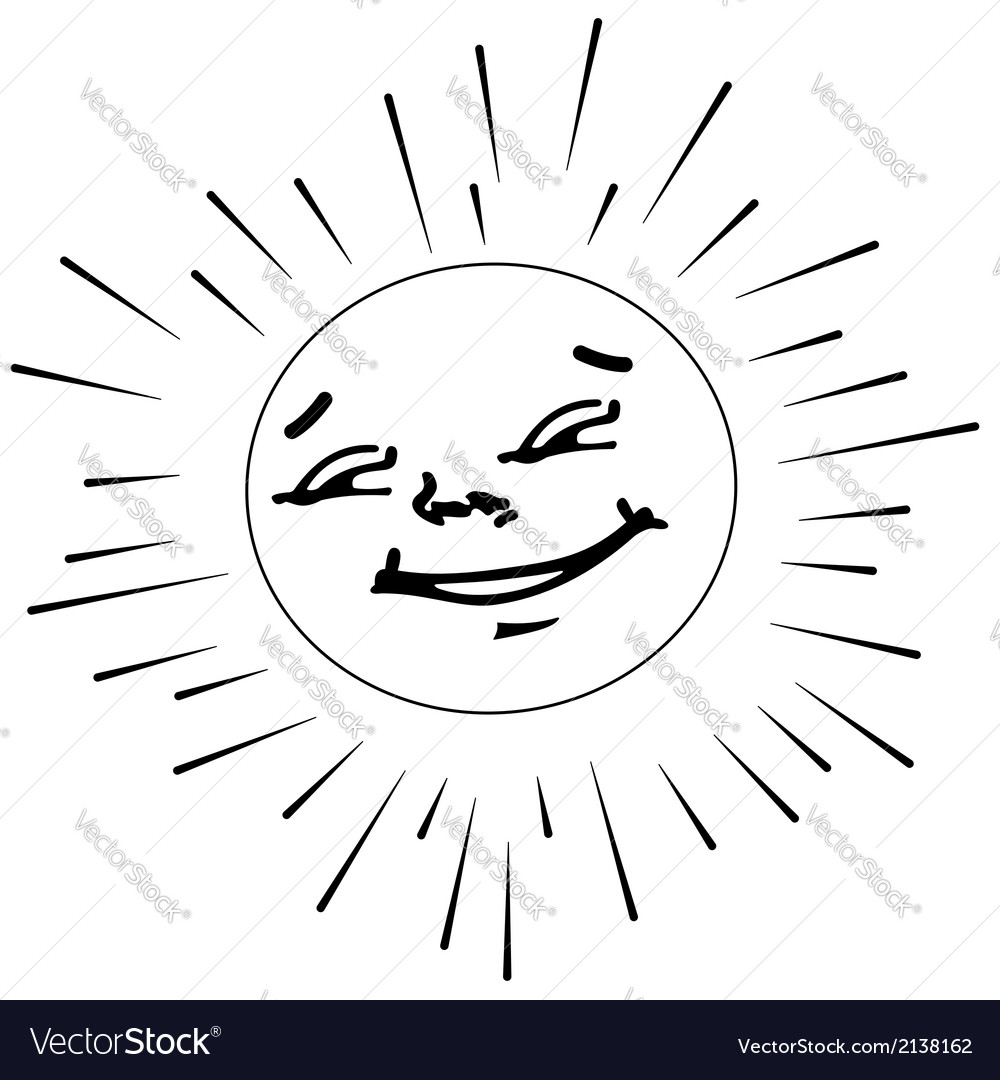 The contour of the sun vector | Price: 1 Credit (USD $1)
