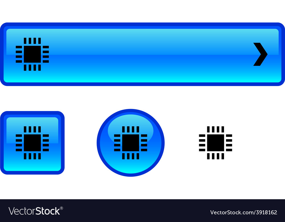 Cpu button set vector | Price: 1 Credit (USD $1)