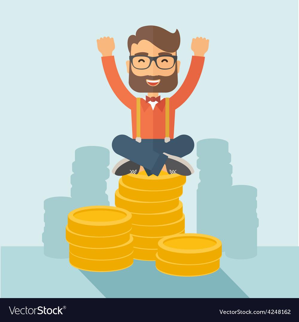Happy businessman vector | Price: 1 Credit (USD $1)