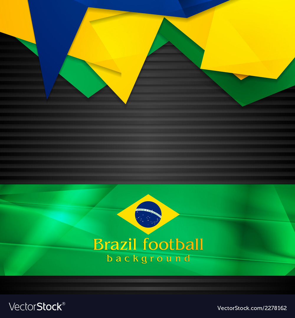 Hi-tech background with brazilian flag vector | Price: 1 Credit (USD $1)