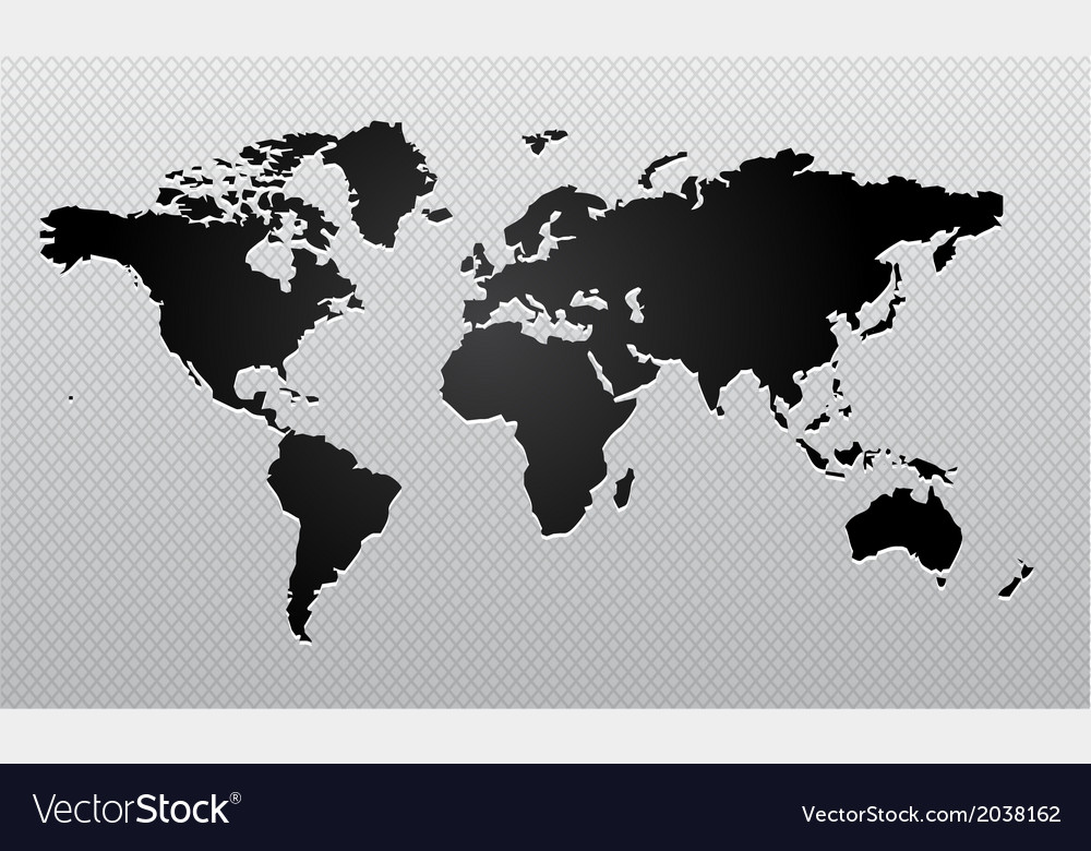 World map design vector | Price: 1 Credit (USD $1)