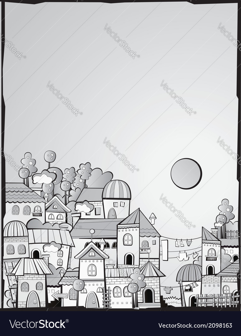 Cartoon construction day town vector | Price: 1 Credit (USD $1)