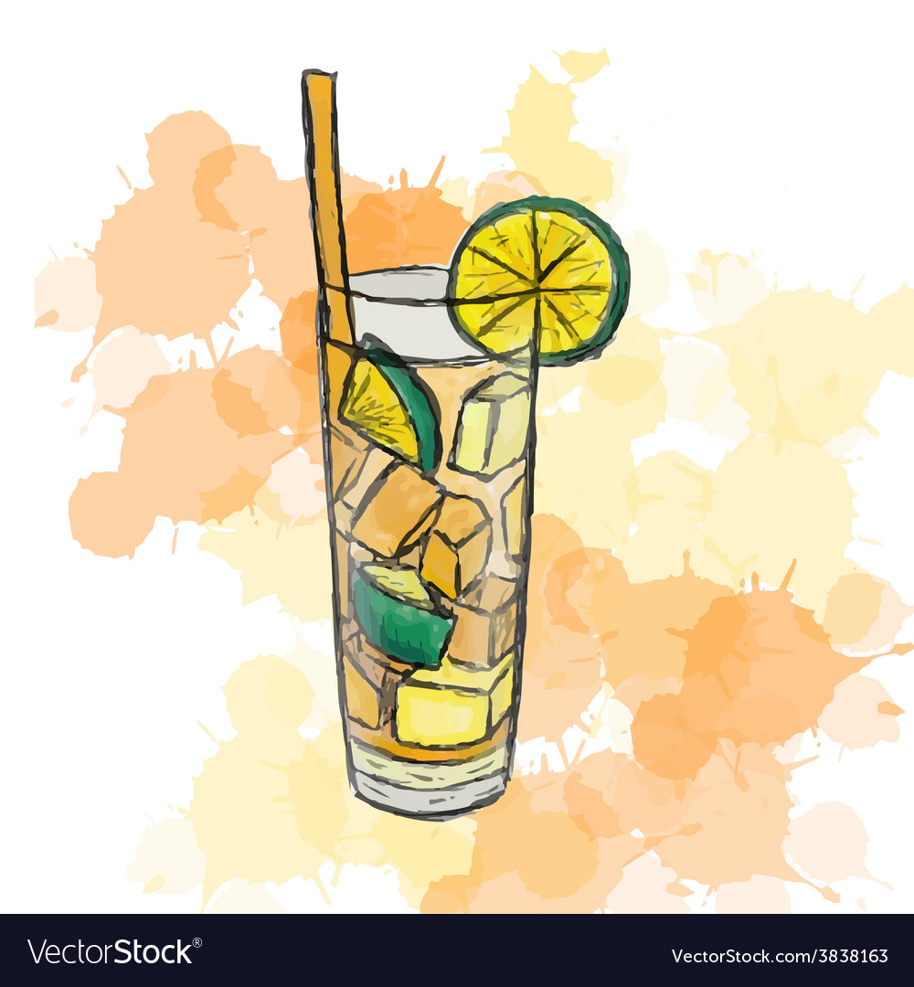 Cocktail long island ice tea vector | Price: 1 Credit (USD $1)