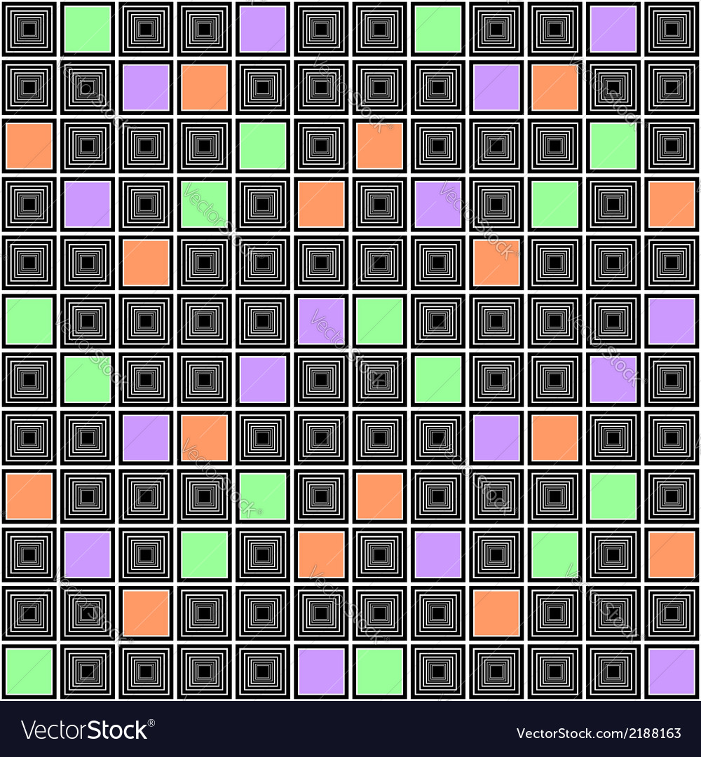 Design seamless colorful mosaic checked pattern vector   Price: 1 Credit (USD $1)