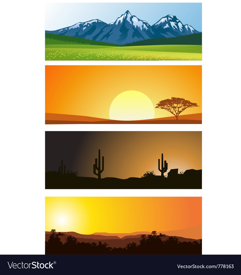 Landscape background vector | Price: 3 Credit (USD $3)
