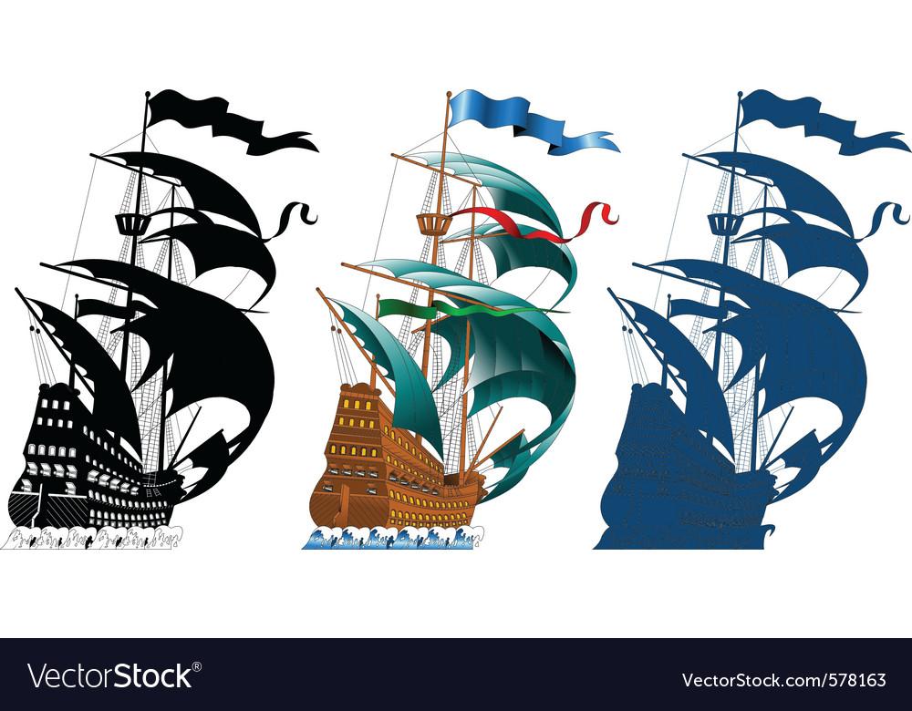 Sailing ships vector | Price: 1 Credit (USD $1)