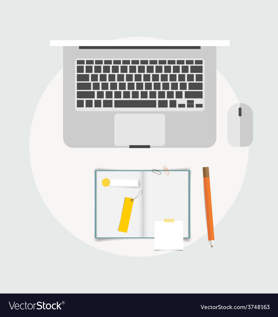 Top view of business items various papers paper vector   Price: 1 Credit (USD $1)