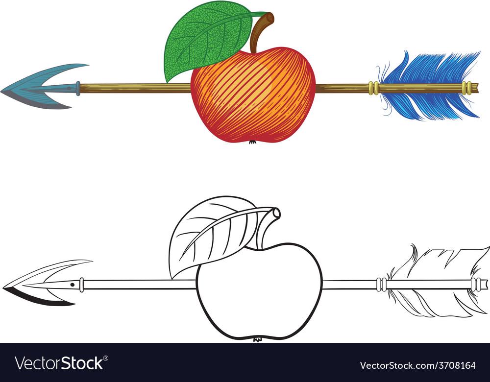 Arrow in apple vector   Price: 1 Credit (USD $1)