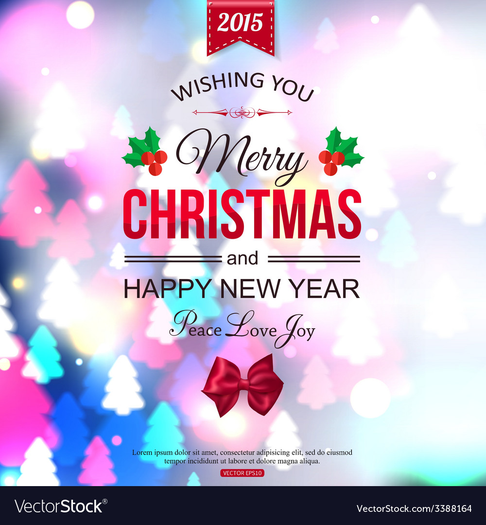 Christmas shining typographical background with vector | Price: 3 Credit (USD $3)