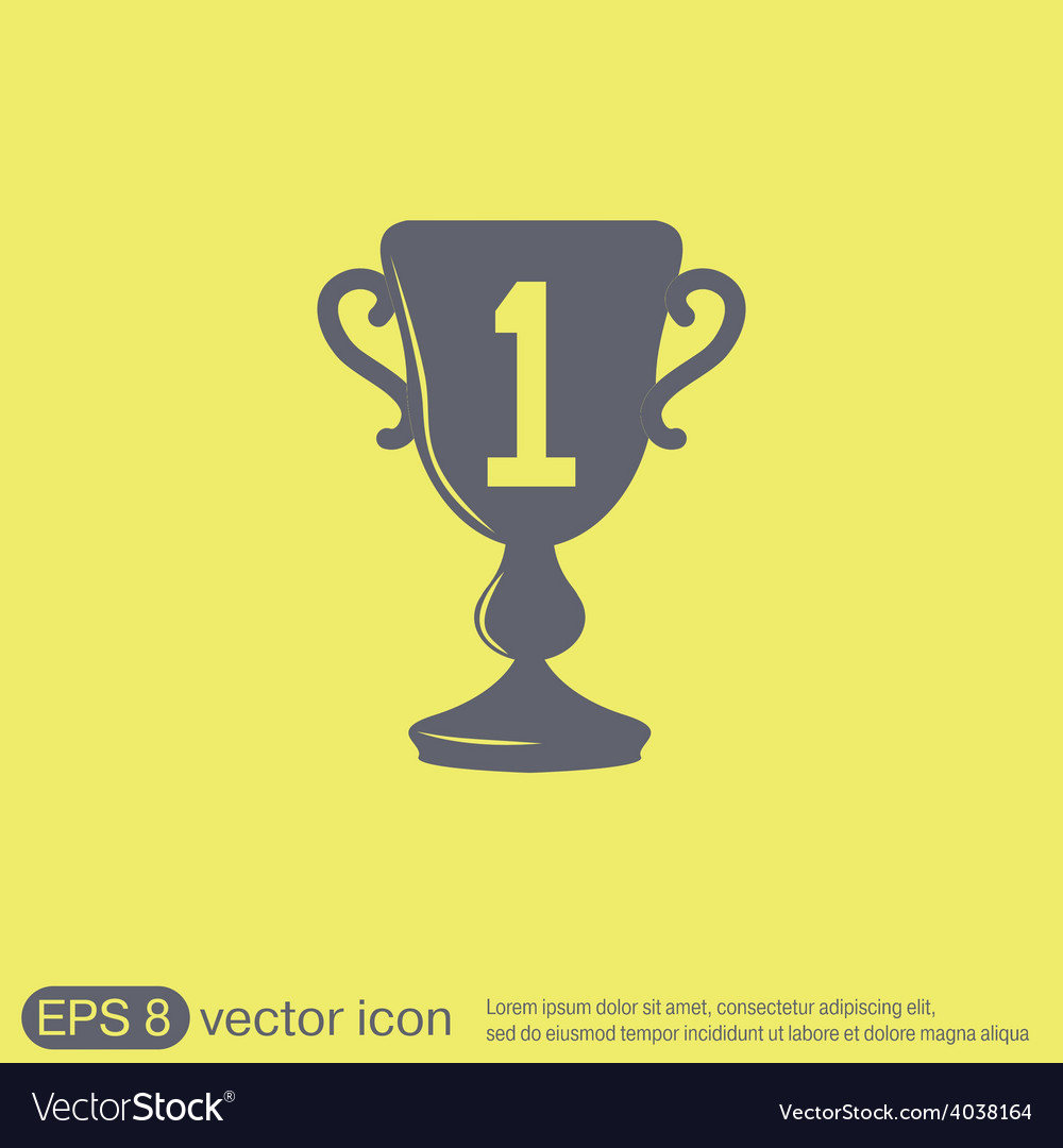 Cup for first place icon vector | Price: 1 Credit (USD $1)