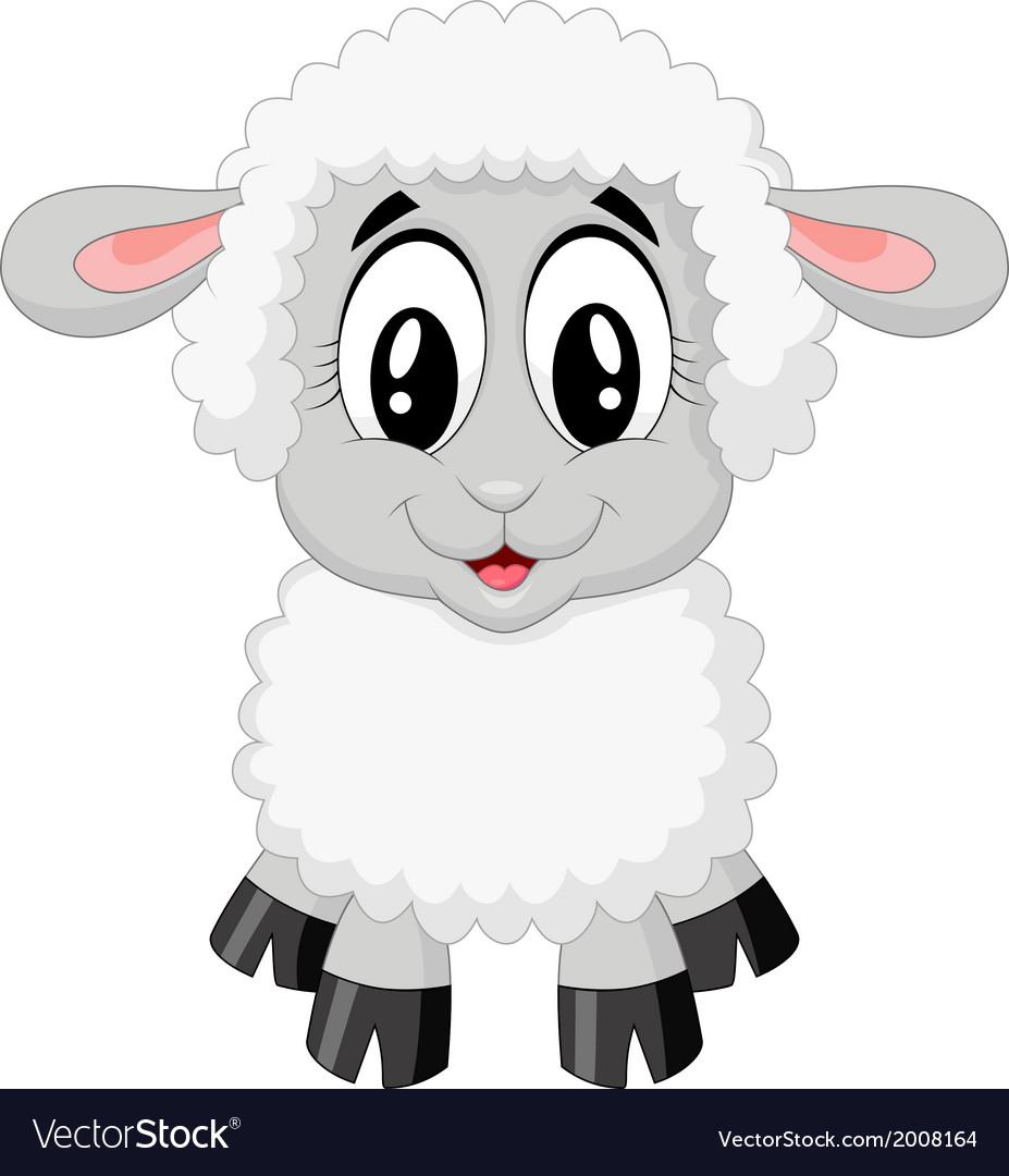 Cute sheep cartoon vector | Price: 1 Credit (USD $1)