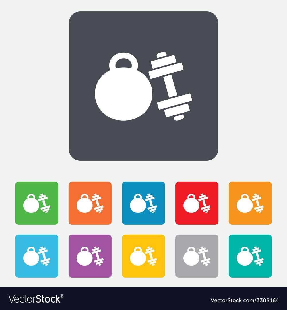 Dumbbells sign icon fitness sport symbol vector | Price: 1 Credit (USD $1)