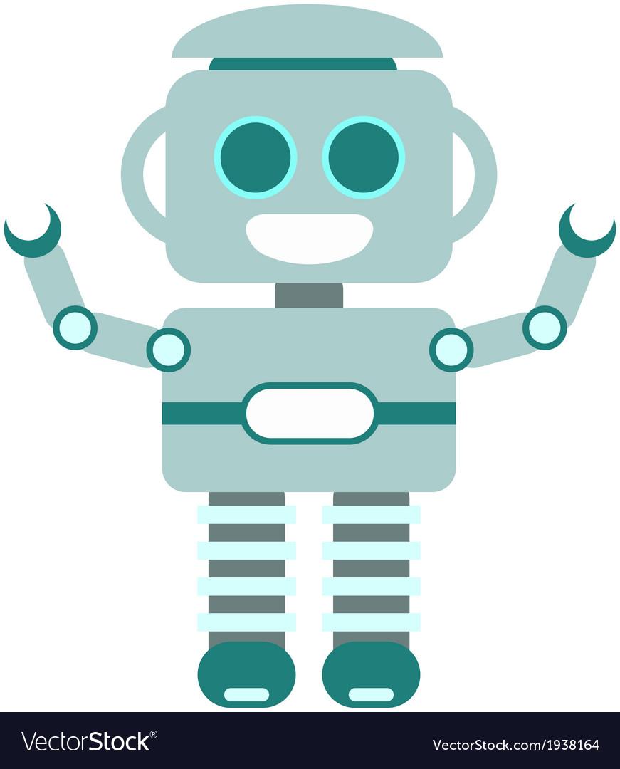 Happy little robot blue vector | Price: 1 Credit (USD $1)