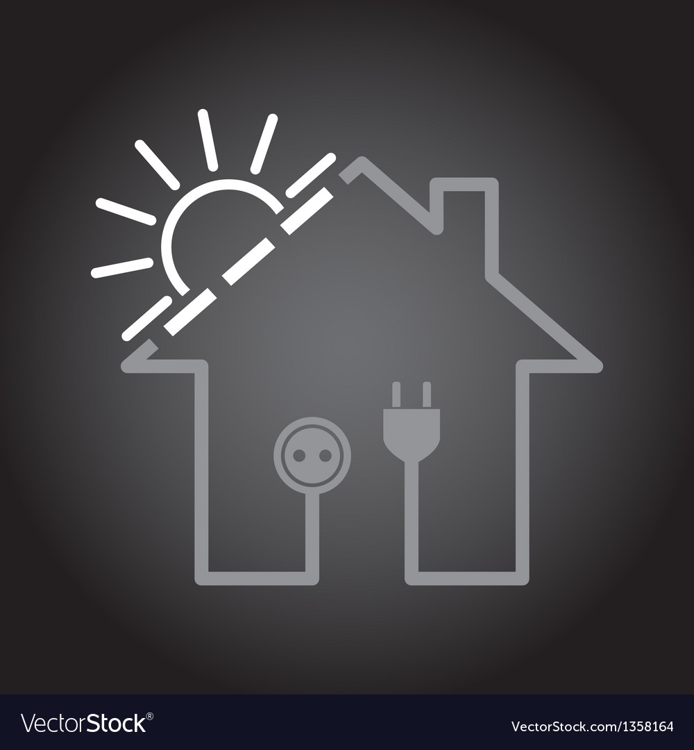 House as solar circuit vector | Price: 1 Credit (USD $1)