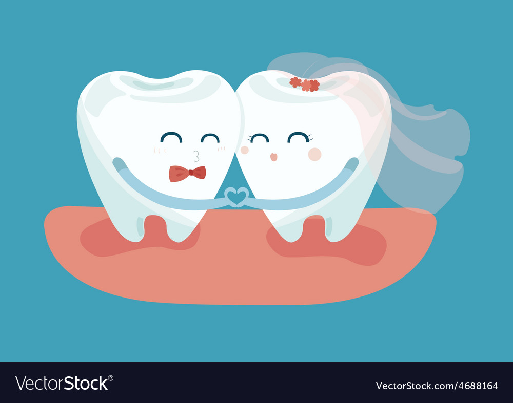 In love teeth vector | Price: 1 Credit (USD $1)