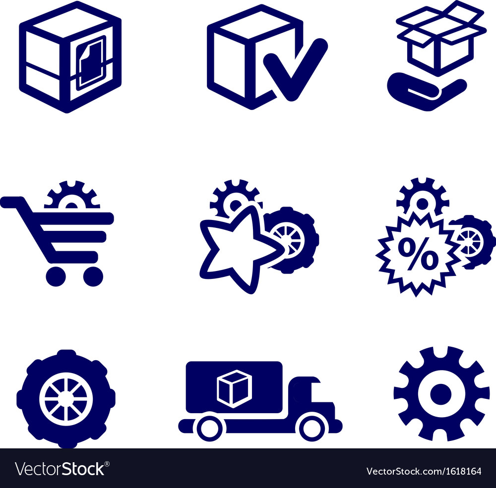 Packaging and buy icons car parts vector | Price: 1 Credit (USD $1)