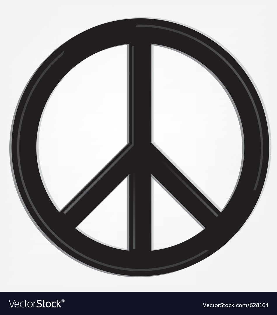 Peace sign logo vector | Price: 1 Credit (USD $1)