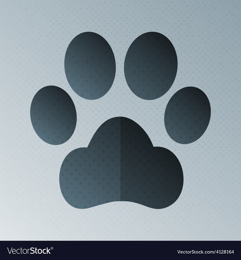 Pets footprint halftone stylized vector | Price: 1 Credit (USD $1)