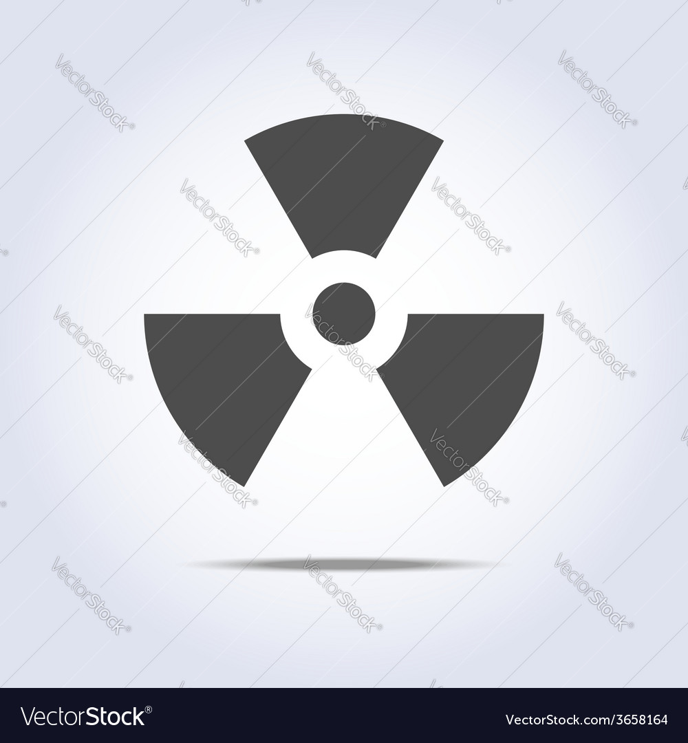 Radioactivity icon in gray colors vector | Price: 1 Credit (USD $1)