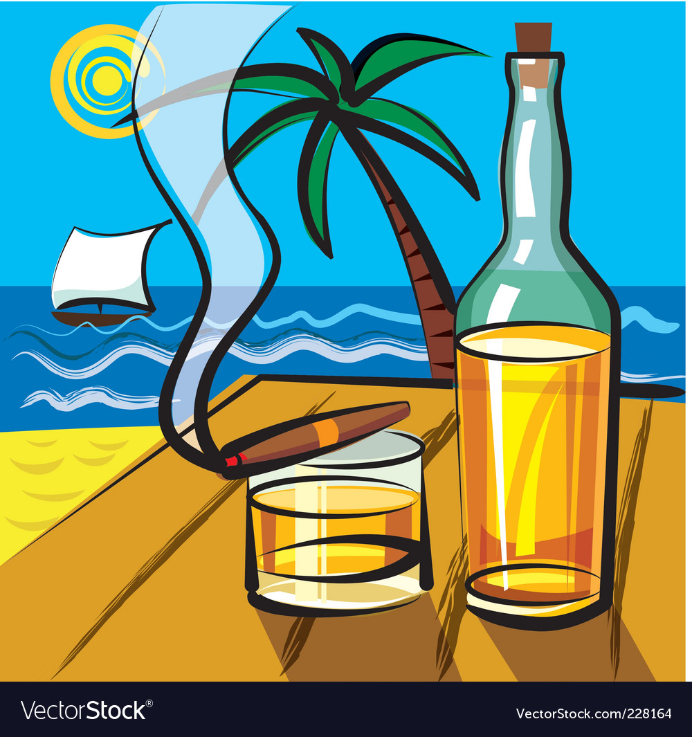 Rum and cigar vector | Price: 3 Credit (USD $3)