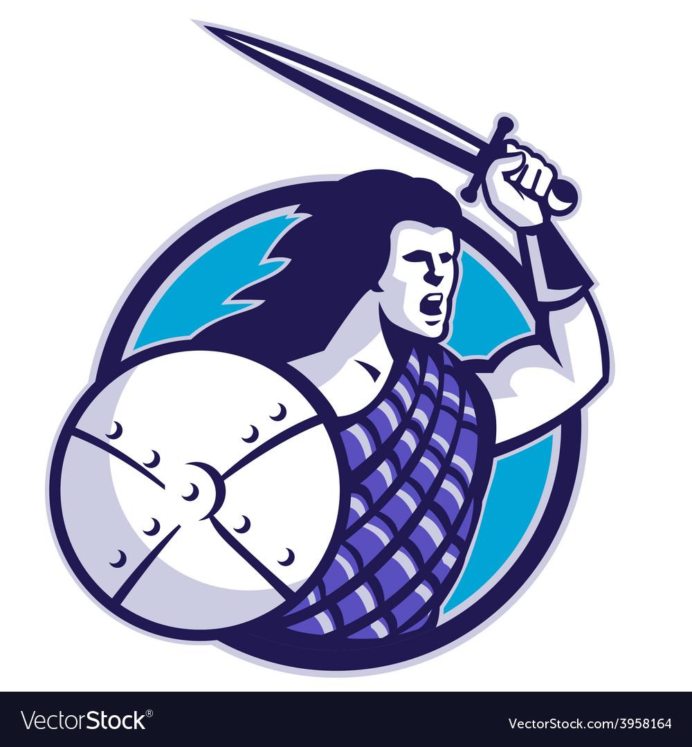 Scottish hilander sword shield vector | Price: 1 Credit (USD $1)