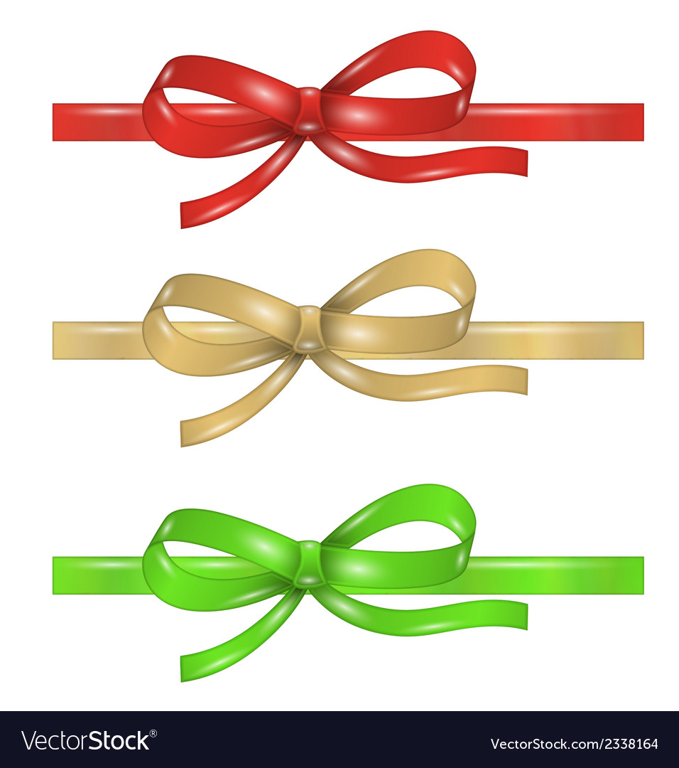 Set of differenet ribbons with bow vector | Price: 1 Credit (USD $1)