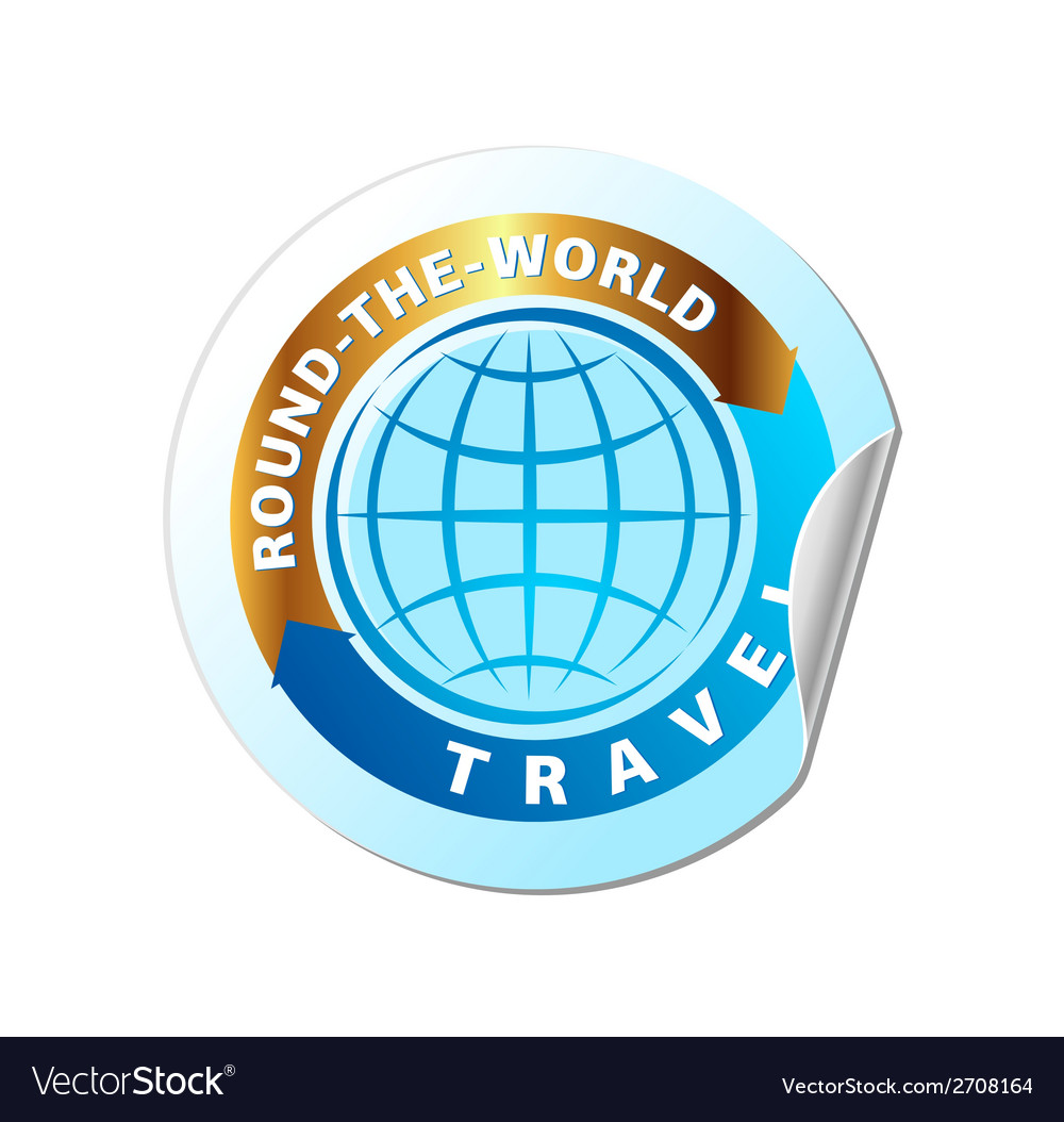 Travel the world icon vector | Price: 1 Credit (USD $1)