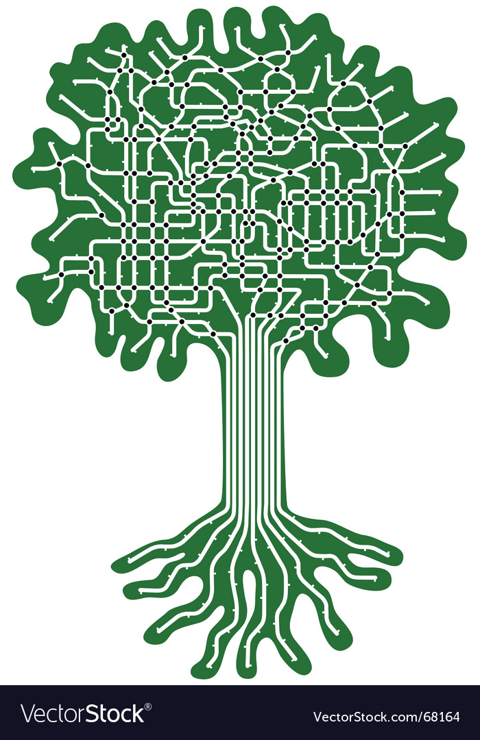 Tree system vector | Price: 1 Credit (USD $1)