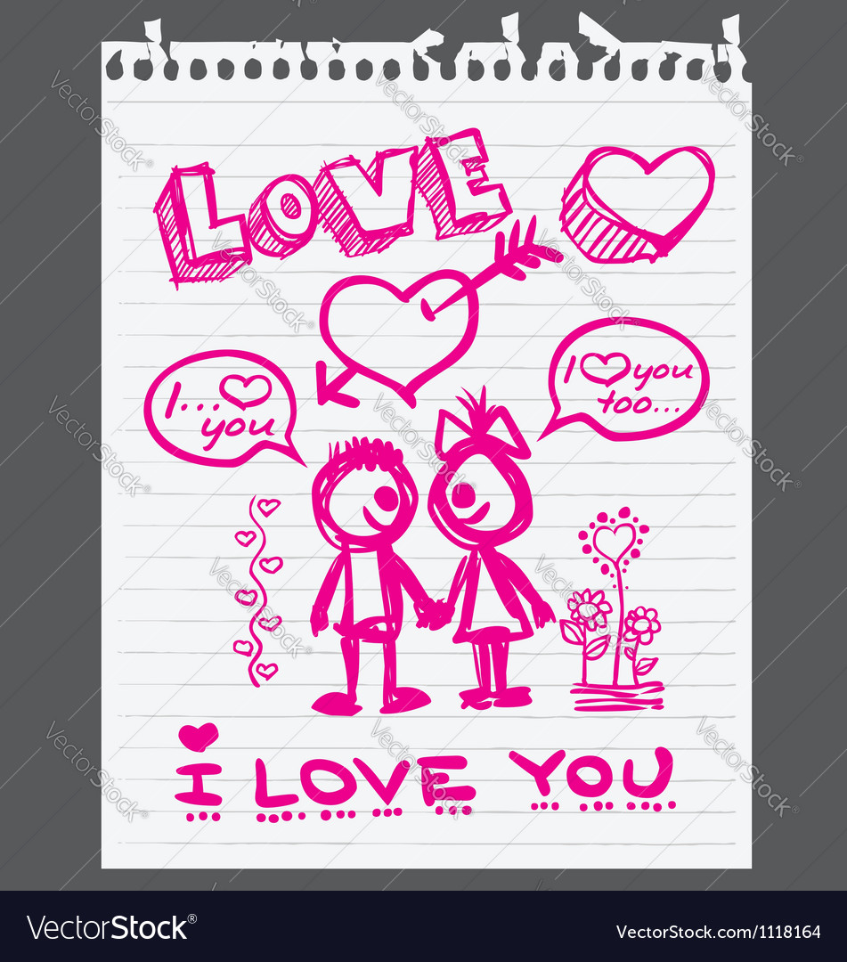 Valentine love you vector | Price: 1 Credit (USD $1)
