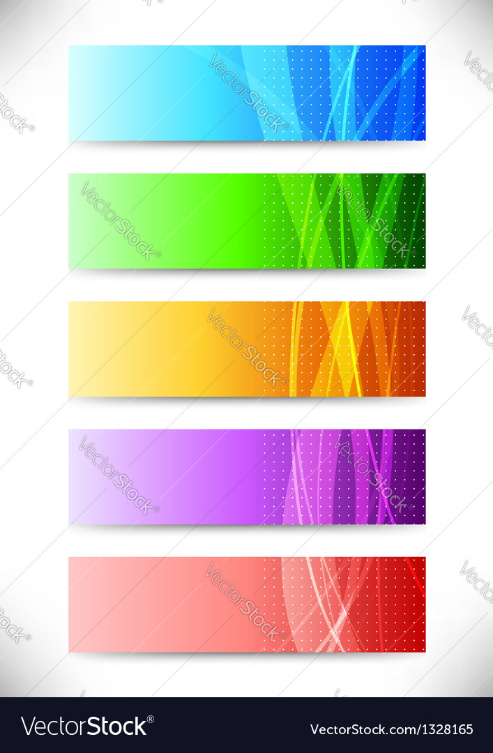 Abstract web headers - collection of cards vector | Price: 1 Credit (USD $1)