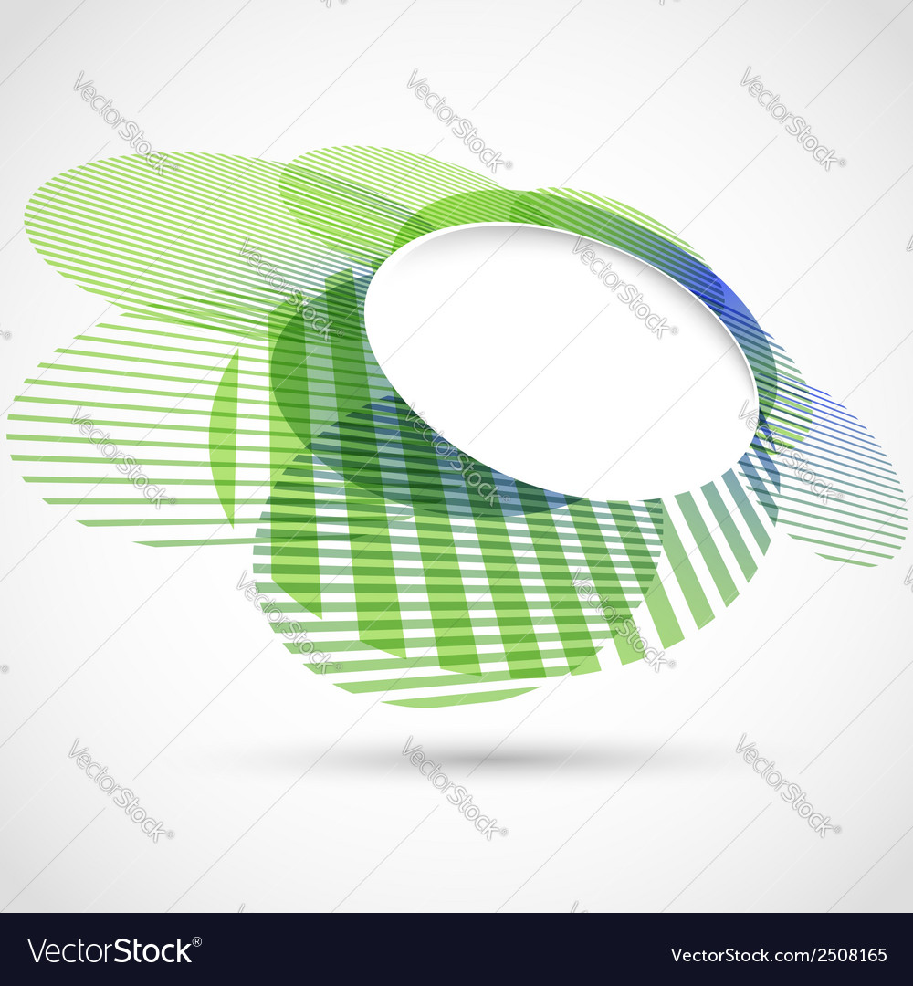 Bright green round advertisement template vector | Price: 1 Credit (USD $1)