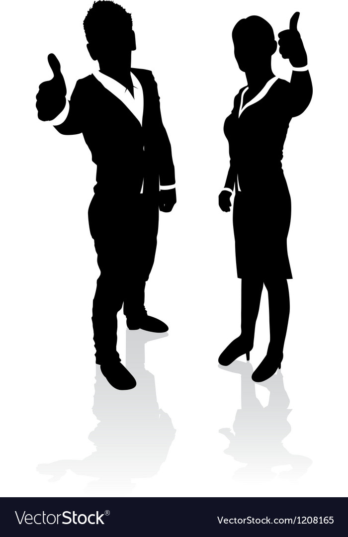 Business people thumbs up vector | Price: 1 Credit (USD $1)