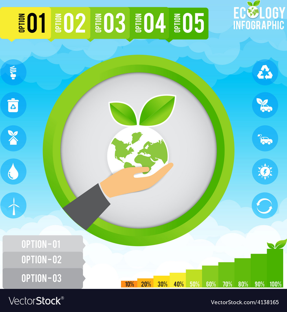 Ecology infographic and presentation vector | Price: 1 Credit (USD $1)