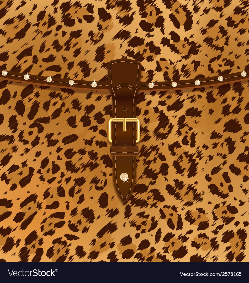 Fashion bag leopard vector | Price: 1 Credit (USD $1)