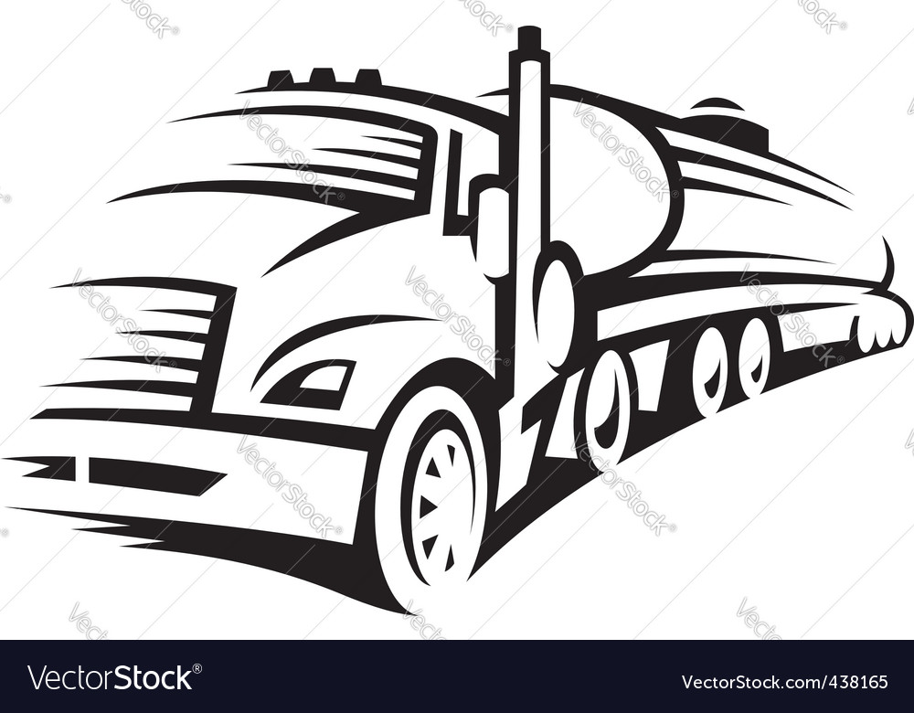 Fuel truck vector | Price: 1 Credit (USD $1)