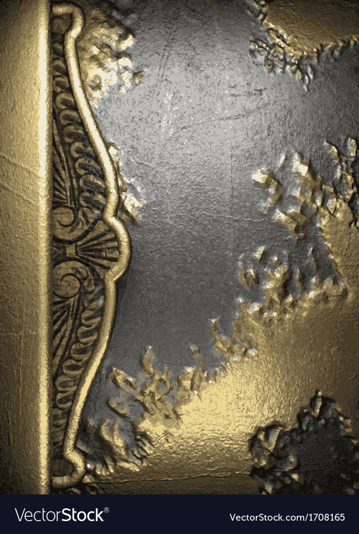 Gold on concrete background vector   Price: 1 Credit (USD $1)