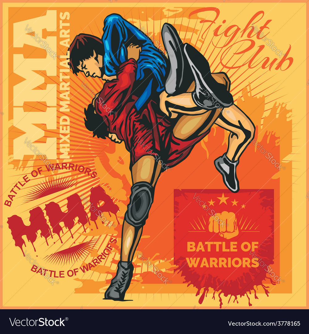 Mma labels - mixed martial arts design vector | Price: 3 Credit (USD $3)