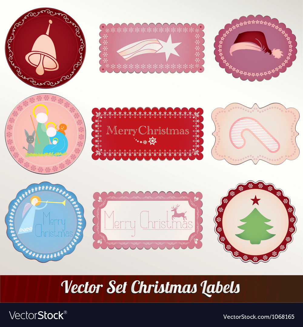 Set of christmas vintage vector | Price: 1 Credit (USD $1)