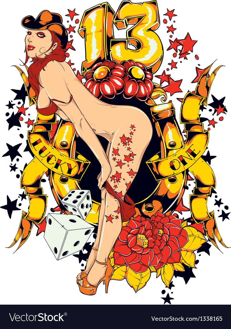 Sexy pin up girl vector | Price: 3 Credit (USD $3)