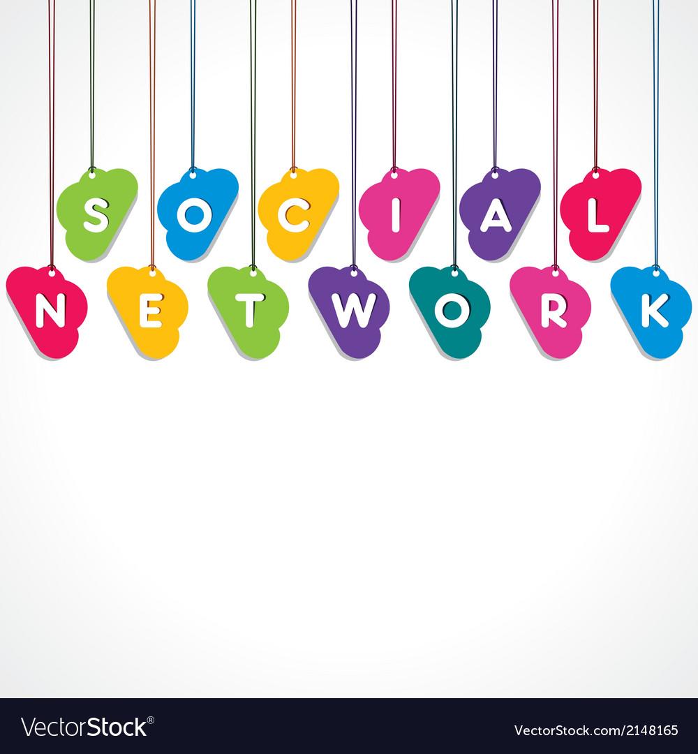 Social network concept vector   Price: 1 Credit (USD $1)