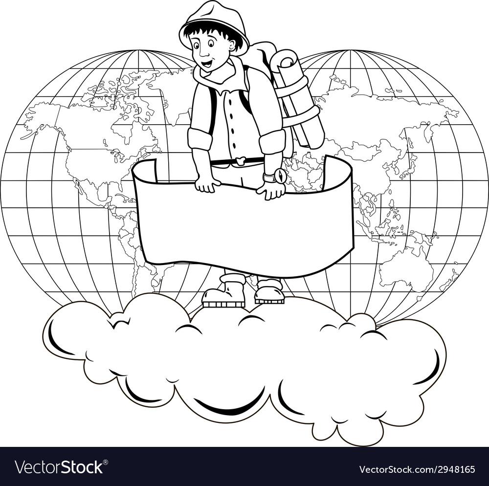 Traveler vector | Price: 1 Credit (USD $1)