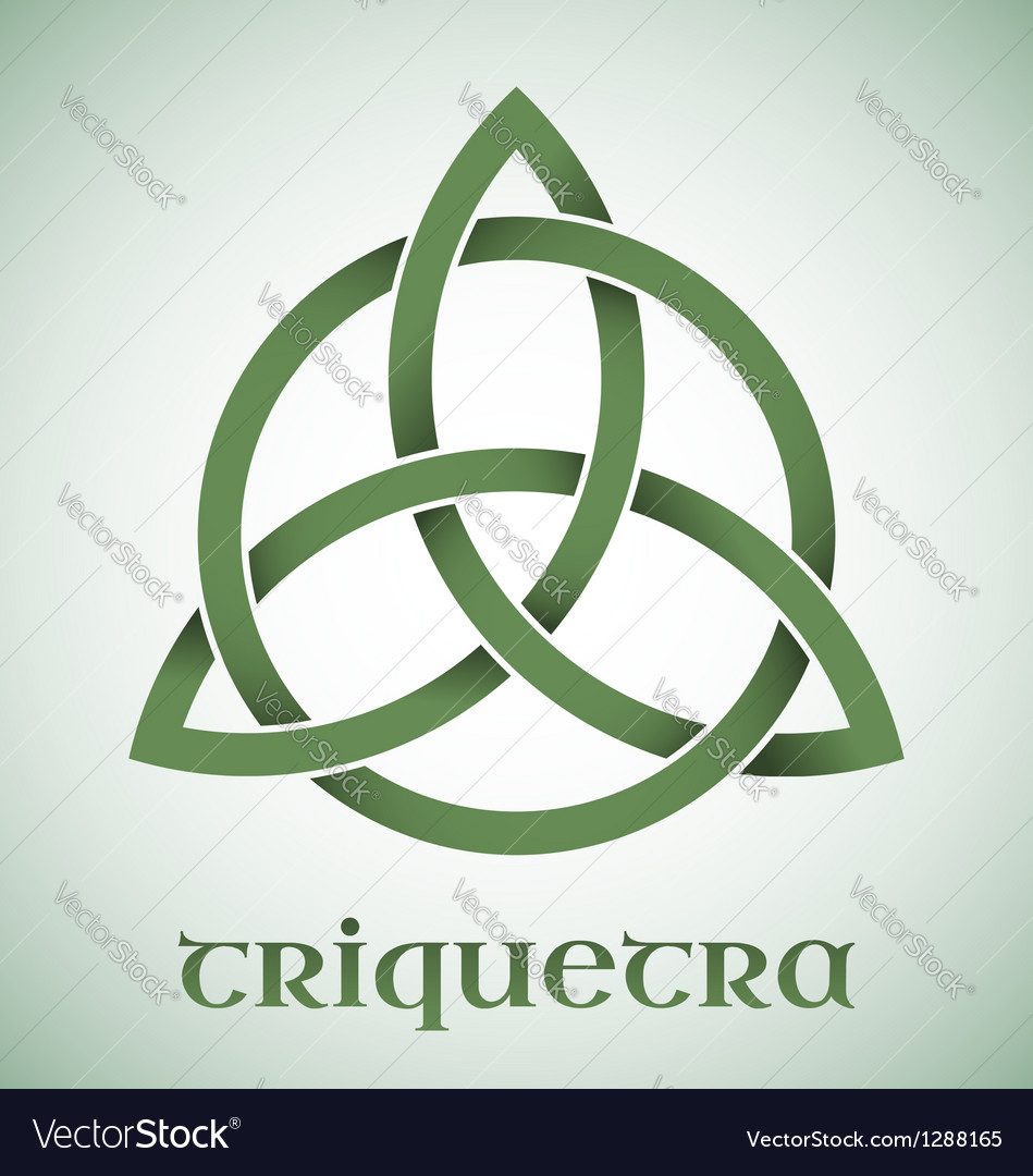 Triquetra symbol with gradients vector | Price: 1 Credit (USD $1)