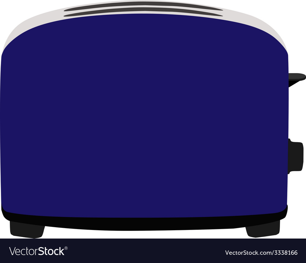 Blue toaster vector | Price: 1 Credit (USD $1)