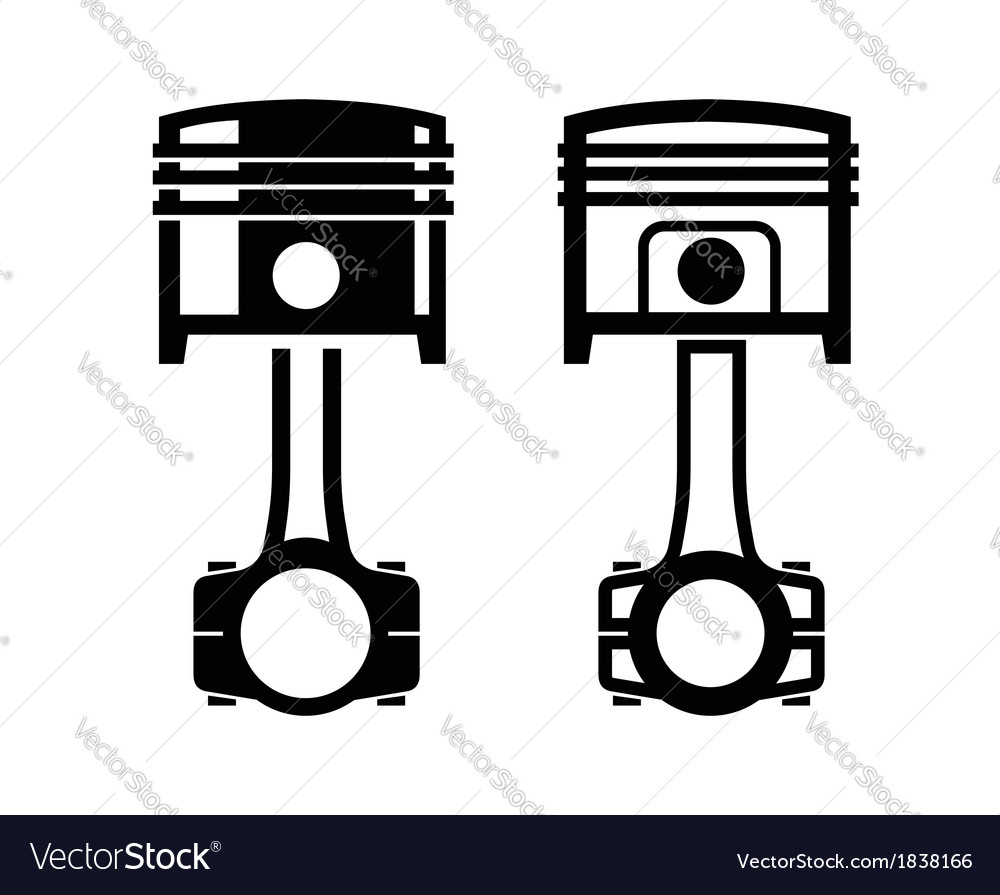 Car piston icon vector | Price: 1 Credit (USD $1)