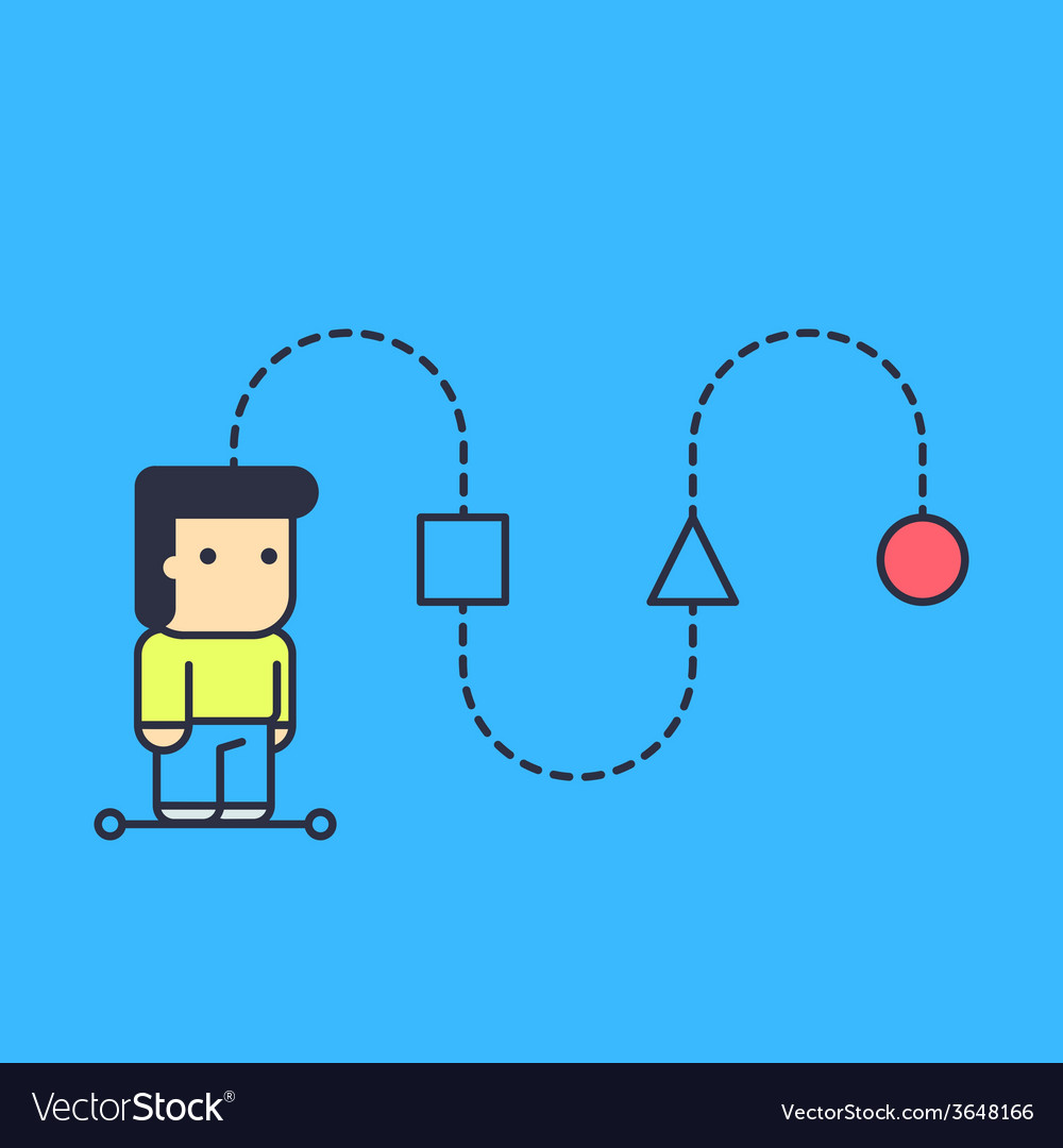 Character creates a logical chain and looking for vector | Price: 1 Credit (USD $1)