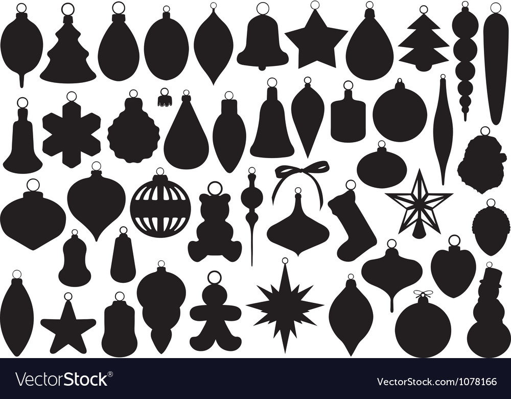 Christmas balls set vector | Price: 1 Credit (USD $1)